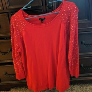 Women's Apt 9 Red sweater size XL